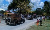 Engalana a Chacchoben llegada de los úuchben del Rally Maya