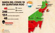 Mapa del Covid 19 en Quintana Roo; van 46 casos positivos